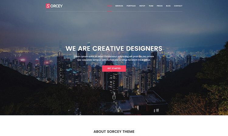 Sorcey Responsive One Page Parallax Html Template