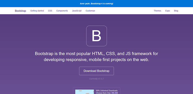 1/20 Best Responsive CSS Frameworks – BOOTSTRAP