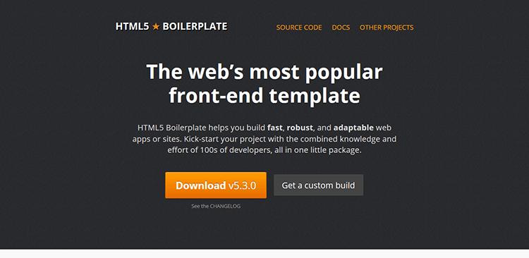 4/20 Best Responsive CSS Frameworks – HTML5 BOILERPLATE