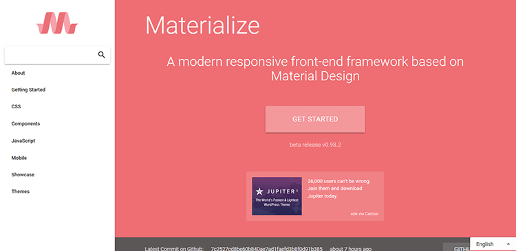 6/20 Best Responsive CSS Frameworks – MATERIALIZE