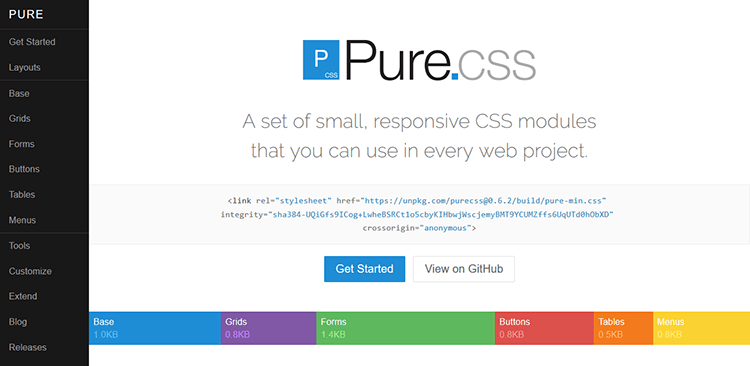 Best 20 responsive css frameworks for your web design in 2017 1520 best responsive css frameworks pure malvernweather Image collections