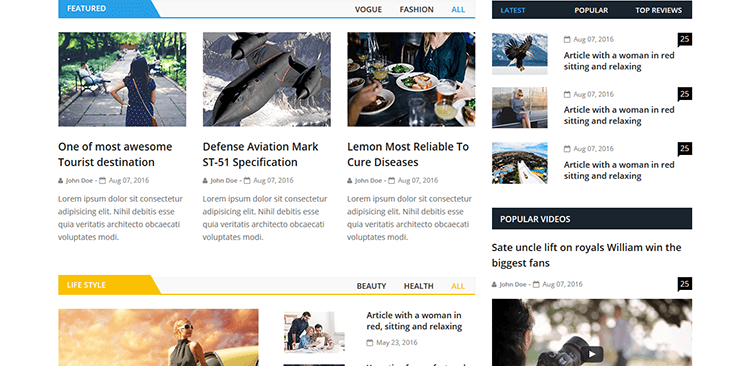 EcoNews – Responsive Bootstrap Newspaper Template suitable for news agencies