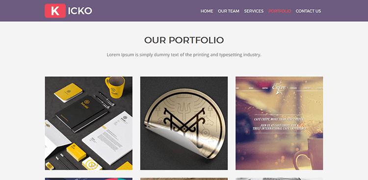 Kicko-–-Free-Agency-Web-Template---Portfolio