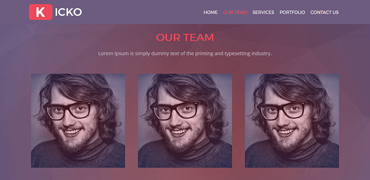 Kicko-–-Free-Agency-Web-Template---Team