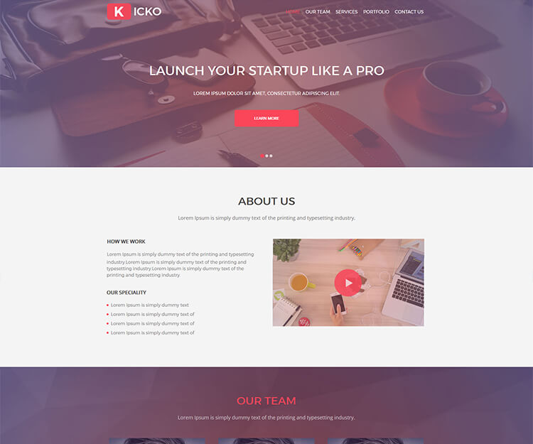 Kicko – Free Agency Web Template