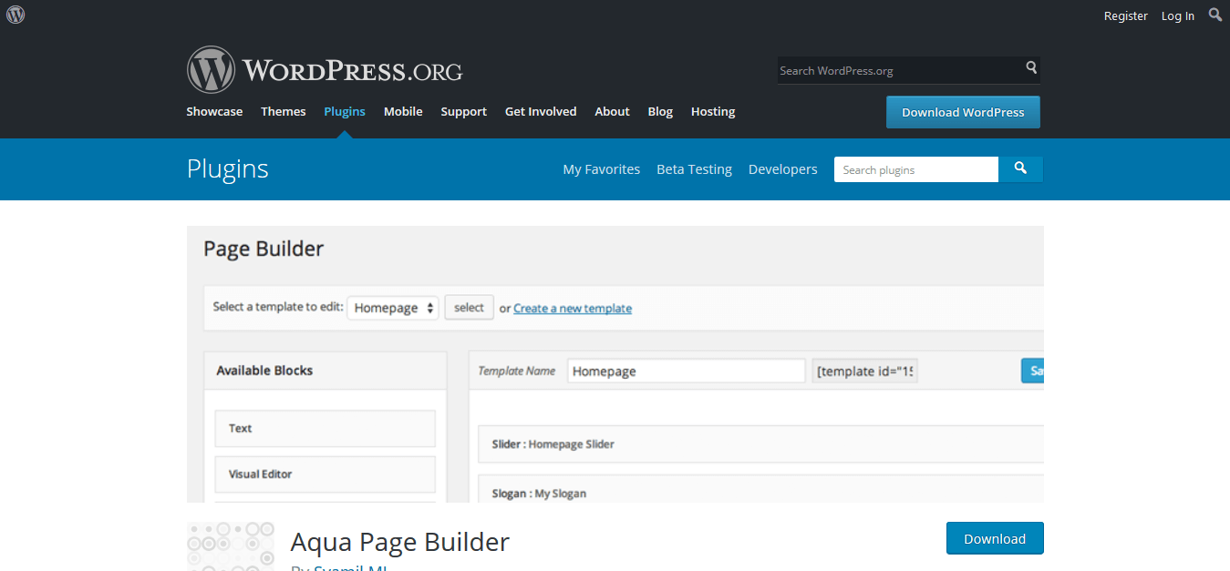 Best 5 WordPress Drag and Drop Page Builder Plugins - Aqua