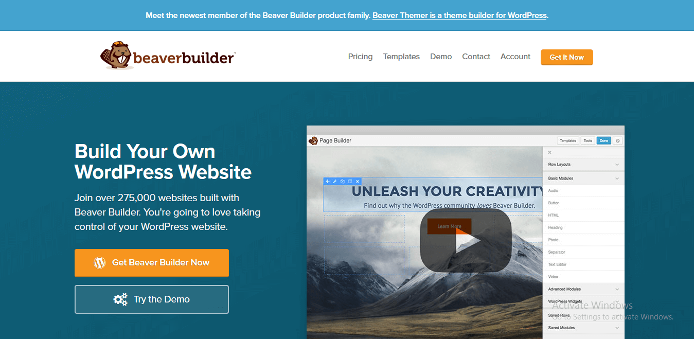 Best 5 WordPress Drag and Drop Page Builder Plugins - Beaver Builder