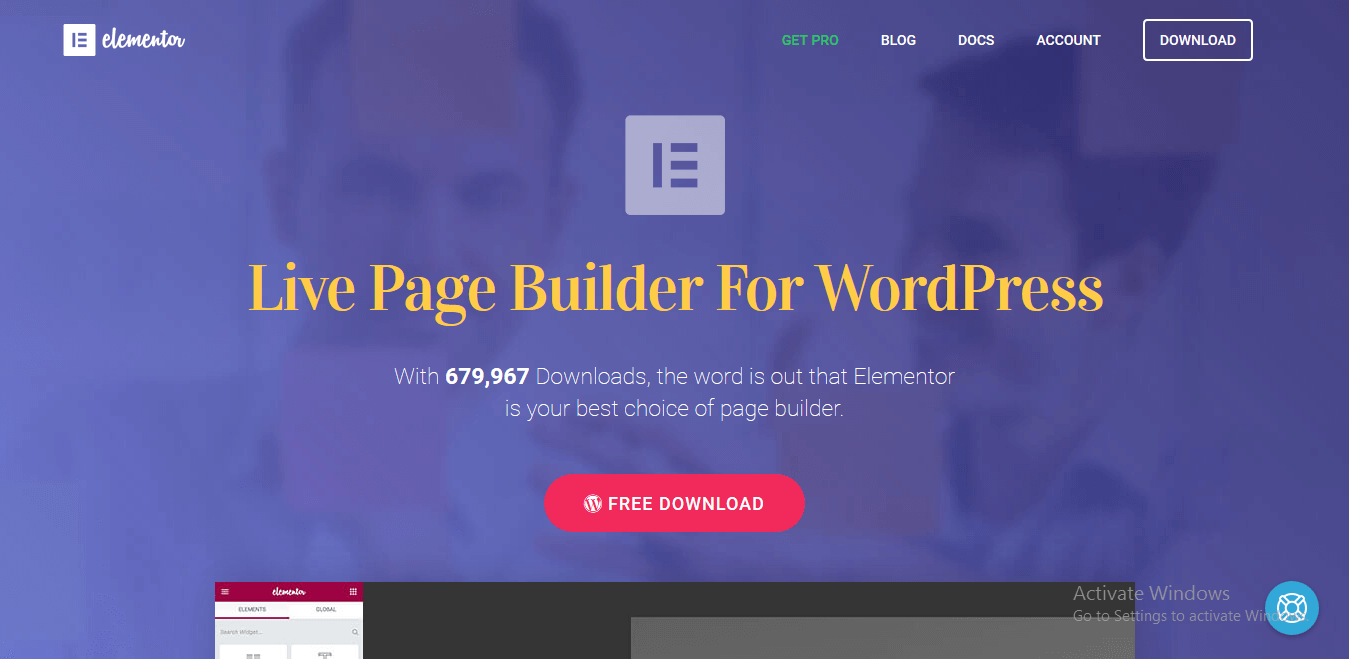 Best 5 WordPress Drag and Drop Page Builder Plugins - Elementor