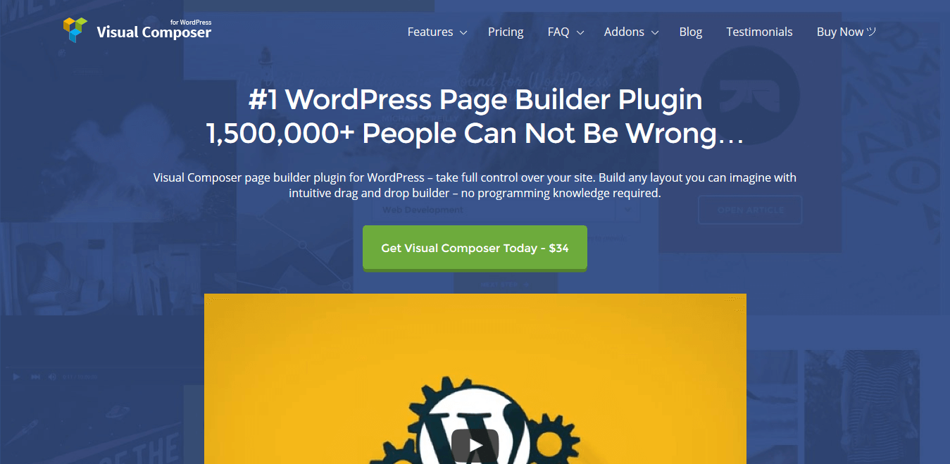Best 5 WordPress Drag and Drop Page Builder Plugins - Visual Composer