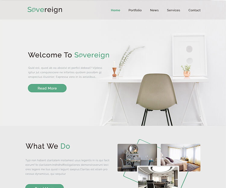 Sovereign - Free Onepage Business Agency Website Template