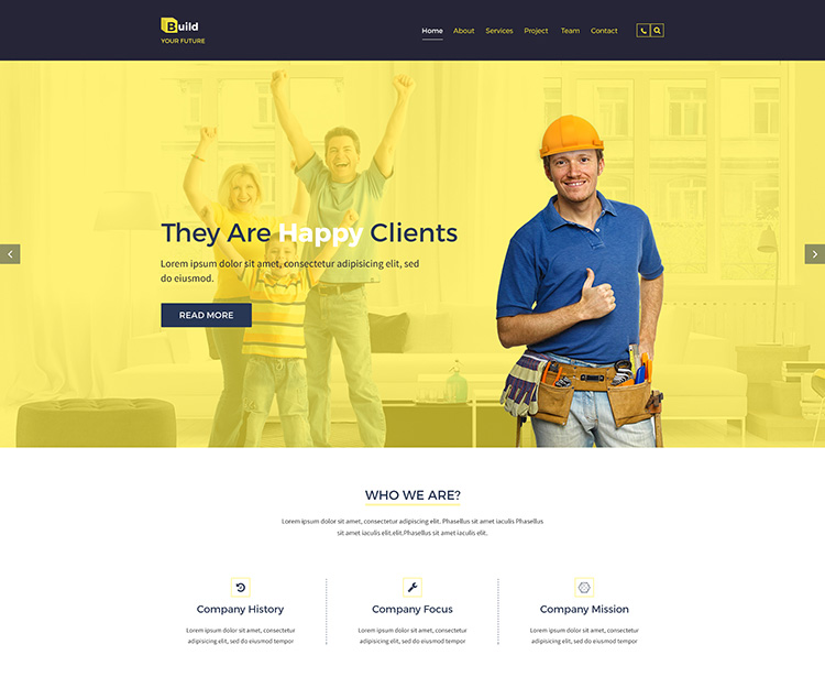 Build Your Future - Construction Bootstrap Template