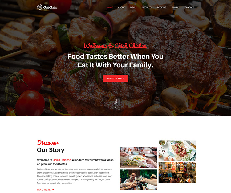 Chick Chicken - Restaurant HTML Template