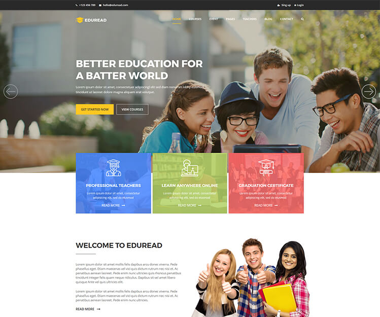 EduRead - Education HTML5 Template