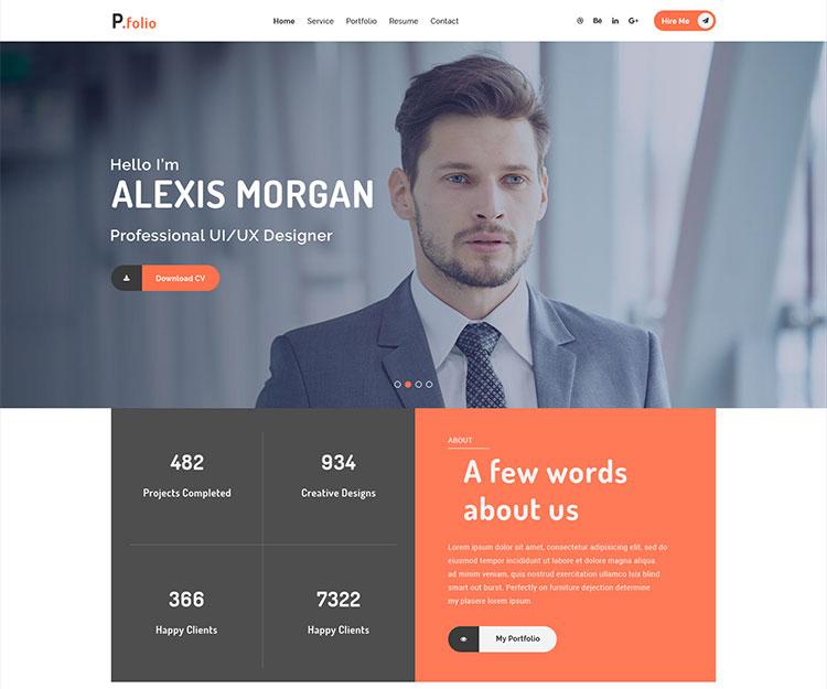 Pfolio - Bootstrap Portfolio Template